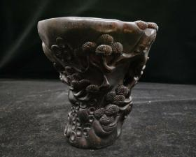 犀牛角杯,重量677g代理转图可以加价,运费自理。