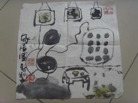 3--58将军王自定写意画