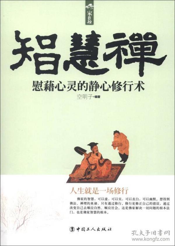智慧禅 专著 慰藉心灵的静心修行术 空明子编著 zhi hui chan