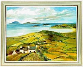 英国回流20世纪初古董风景油画 尺寸:53.5×41CM 材质:板面油画  30088#