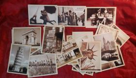 外国明信片【共32张】不知道什么年代,挺好玩儿的。
