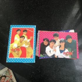 小虎队 明信片 10张