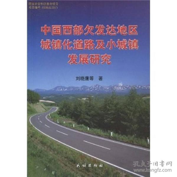 中国西部欠发达地区城镇化道路及小城镇发展研究