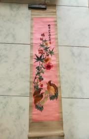 民国刺绣花鸟画