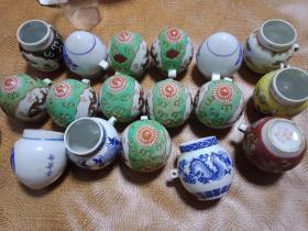 文革时期《景德镇手绘鸟食罐》品种多-----议价销售---勿直接下单