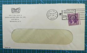 1939年3月22日美国(布鲁克林)实寄封贴早期邮票1枚