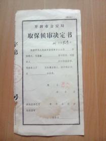 取保候审决定书(空白未使用)