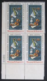 美国邮票----画家哈内特