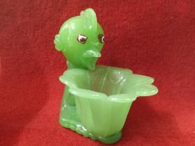 怀旧收藏 八十年代 玻璃烟灰缸 动物造型小鸡 形象奇特好玩