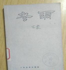冬雨 王蒙 80年老版正版