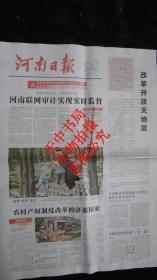 【报纸 】 河南日报 2018年8月13日【改革开放天地宽】【河南联网审计实现实时监督】