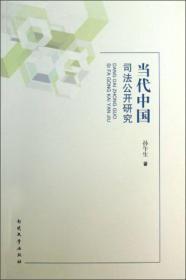 当代中国司法公开研究