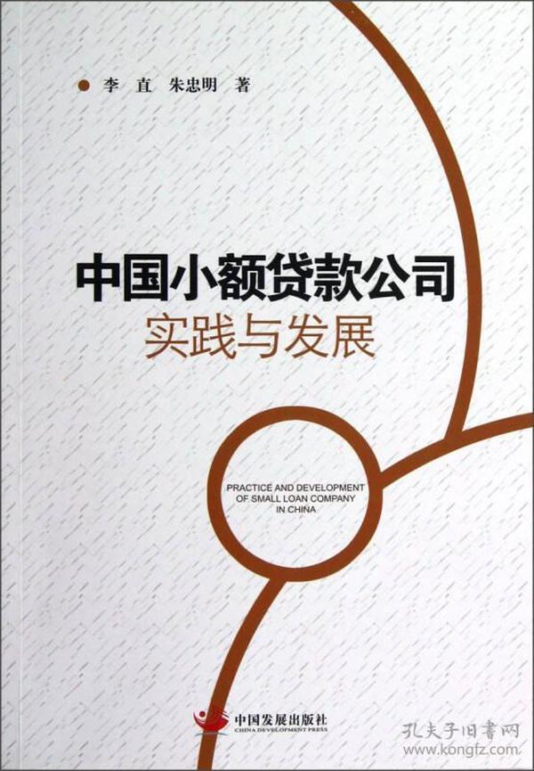 中国小额贷款公司实践与发展