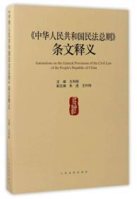 中华人民共和国民法总则条文释义