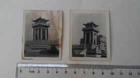 约1955年,南京新街口街心牌楼及毛泽东画像摄影两张未发表原照