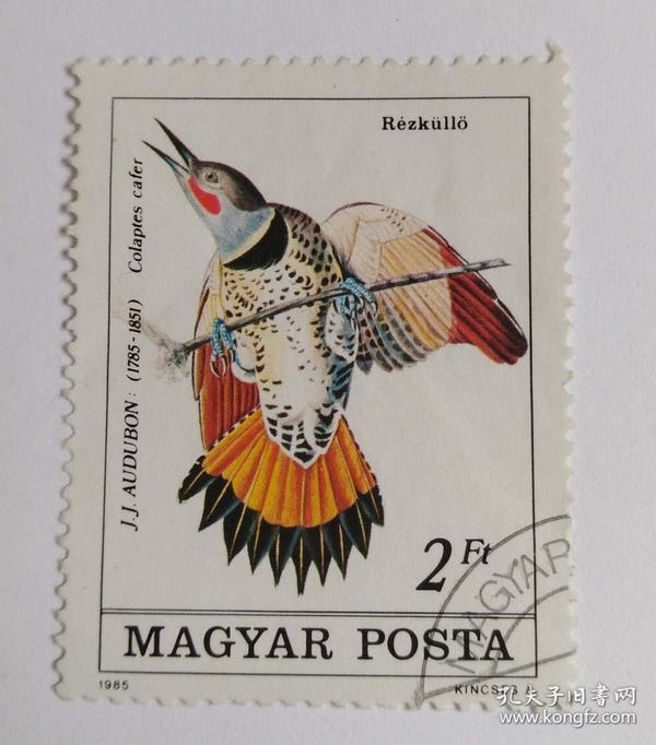 外国匈牙利邮票信销票1枚