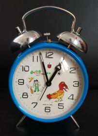 文革闹钟:《金鸡牌闹钟-公鸡啄米》带原盒包装及使用说明