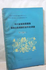 四川省苗族傣族白族满族社会历史调查