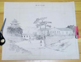 日清战争  甲午战争 铜版画  广岛大本营