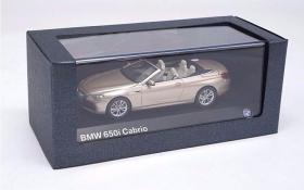 1:43德国原厂宝马BMW650iCoupe6系跑车合金汽车收藏(敞篷版金色)