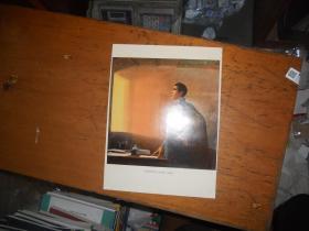 井冈山的斗争 毛主席在八角楼 油画 单张图片 【画册内取出 展览用过 四角有图钉孔】