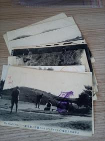 民国日本发行明信片10张合售,部分盖有纪念印戳