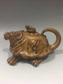蒋蓉 青蛙紫砂壶 品如图珍藏版