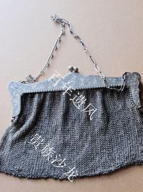 欧洲贵族仕女纯银女包  带国际通认准入行银标    银标清晰   品相上佳