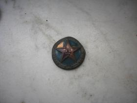 55解放军【八一】铜帽徽!