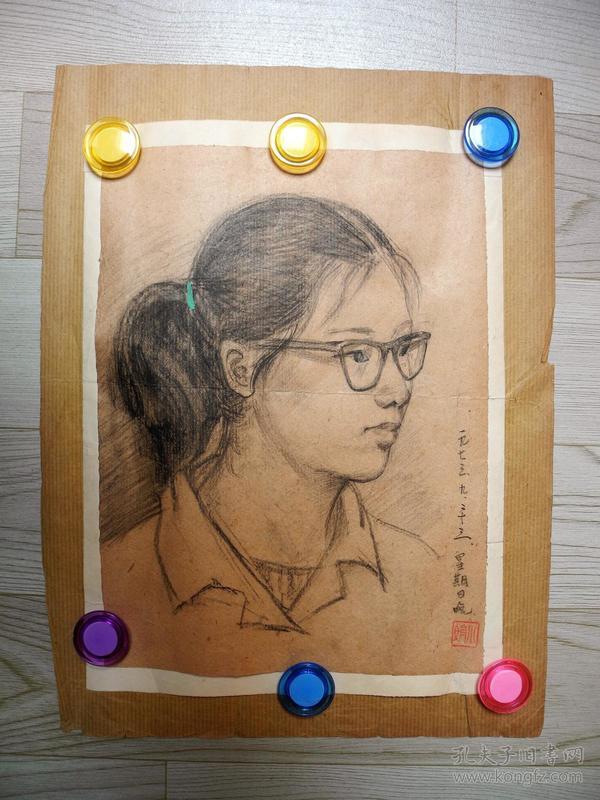 【名家书画】上海画院名家马小娟早期人物画《人物写生(2)/27*20》