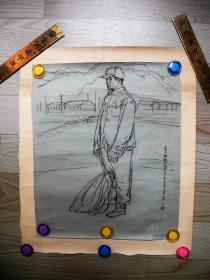 【名家书画】上海画院名家马小娟早期人物画《人物速写/39*32》