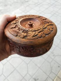 木器茶盒、茶垫 (5个茶垫、1个茶盒)