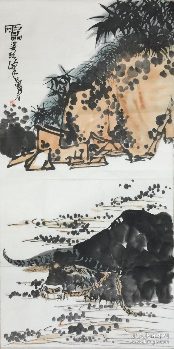 ★【顺丰包邮】、【纯手绘】【潘天寿】国家一级美术师、前中美协副主席、手绘四尺整张画(138*69cm)买家自鉴。