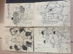 连环画原稿,未署名,五六十年代,保真包老。22张,画工精良