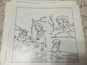 连环画手稿   勇敢克鲁德 [漫画]