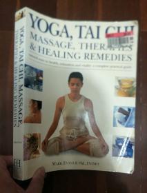 英文原版 YOGA,TAI CHI MASSAGE,THERAPIES AND HEALING REMEDISE 16开铜板纸彩印