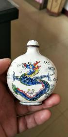 古玩、民国、粉彩山水人物、复古创意特色鼻烟壶、古瓷器小摆件、收藏把玩鼻烟壶3-1区