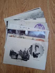 民国日本发行明信片12张合售:昭宪皇太后、福井言页、艺伎、八事山五重塔等