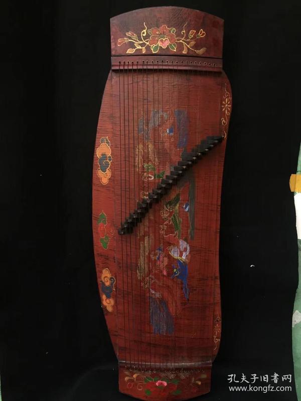 收来的古代乐器漆器古筝
