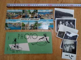 战后日本照片10张合售,有相册,附明信片一张