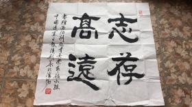 辽宁日报侯剑华书法《志存高远》