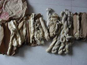 民国上海双鹭牌丝线一包,粗细不一,修复古籍珍品