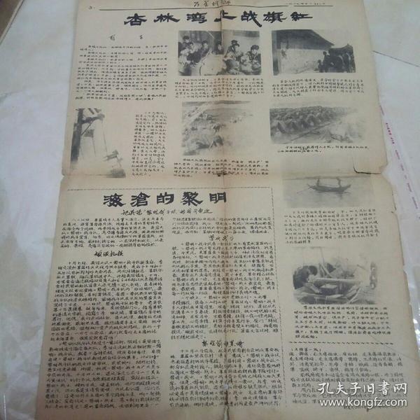 厦门现存老报纸(百万雄狮)杏林湾上战旗红