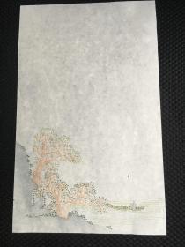 民国荣宝斋 仿乾隆怡亲王府角花笺之 1 饾版拱花技术  纹路凹凸于纸面 精美珍贵