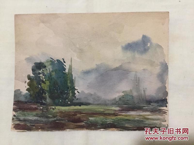 老水彩画《雾》