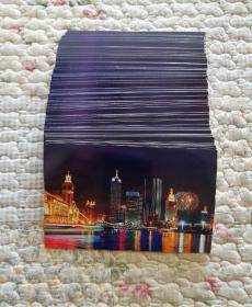 中国邮政明信卡片80分.天津美丽海河夜景图〈200张合售〉