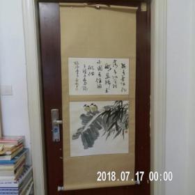陈明生题跋石翰作画 花鸟作品一幅