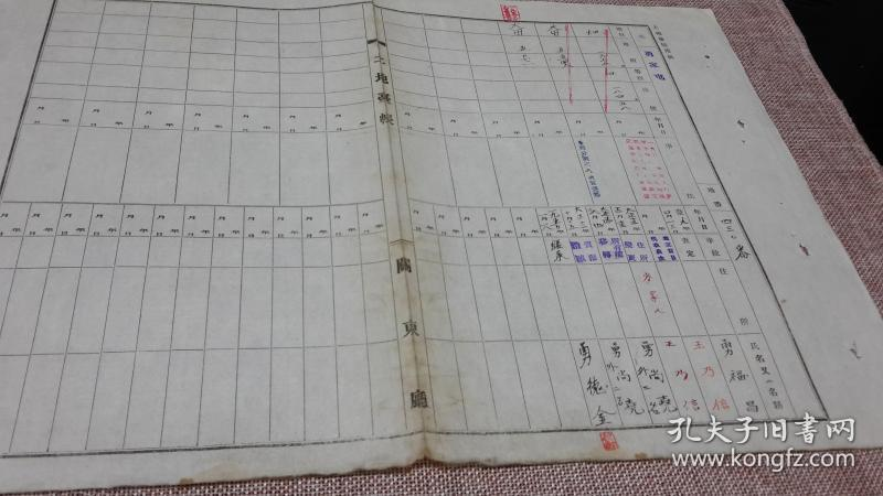 记土改53年存档辽宁关东厅勇家屯土地台账地nf218800图纸图片