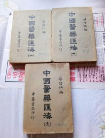 中国医药汇海(经部十至十二上中下3册全)。32开本1092页码。