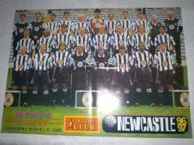 足球明星海报(足球俱乐部1996年)6开双面(纽卡斯尔队) 苏克